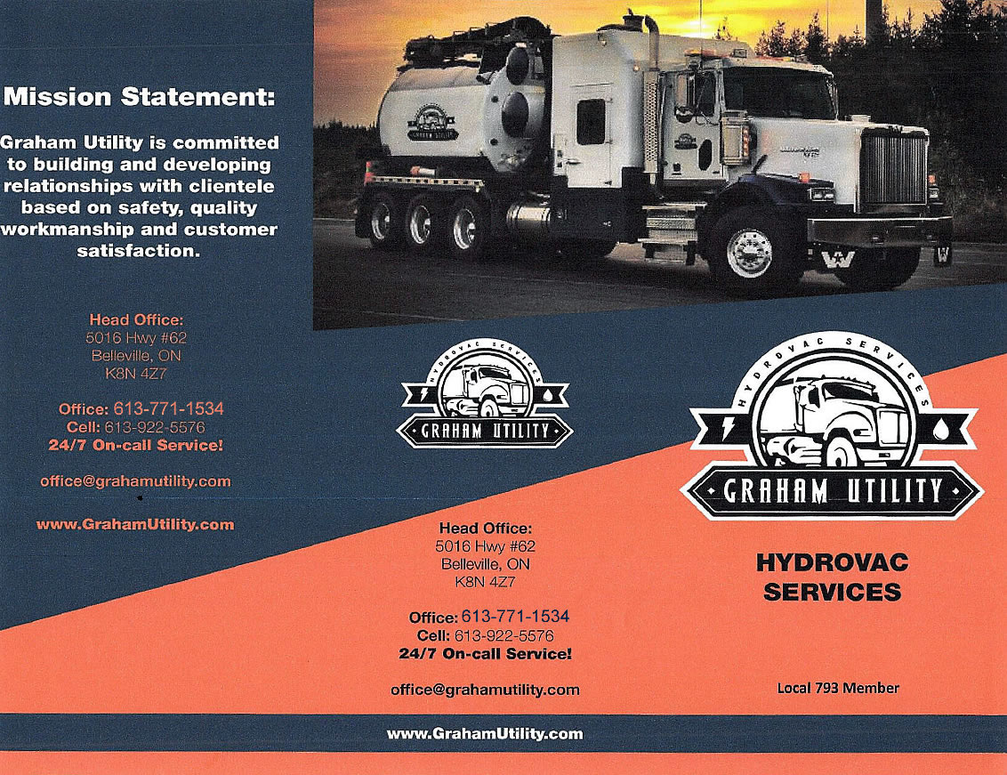 Graham Utility, Hydrovac Services, Kingston, Belleville, Ottawa